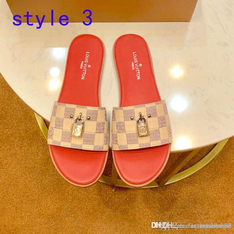 pistoni di modo donne della moda in pelle sandali estate fondo confortevole belle scarpe casual appartamenti infradito per le donne di grande formato 35-42