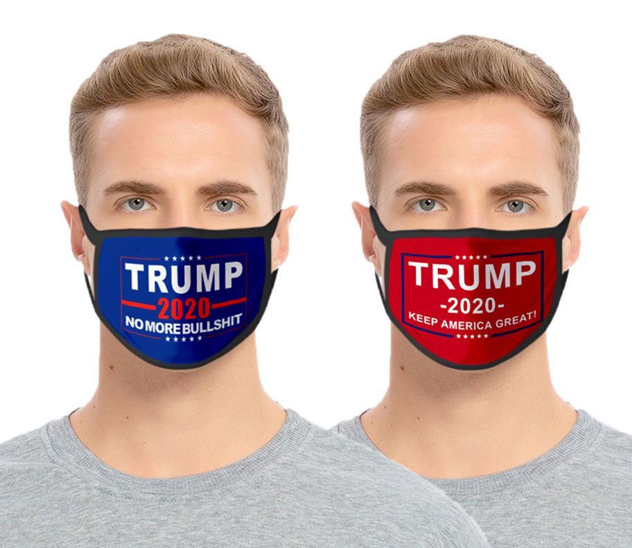 Дизайнер Face Mask Donald Trump маски 2020 Президент Выборы Взрослый Ребенок Мода Рот маска США 3D печать Бесплатная доставка DHL