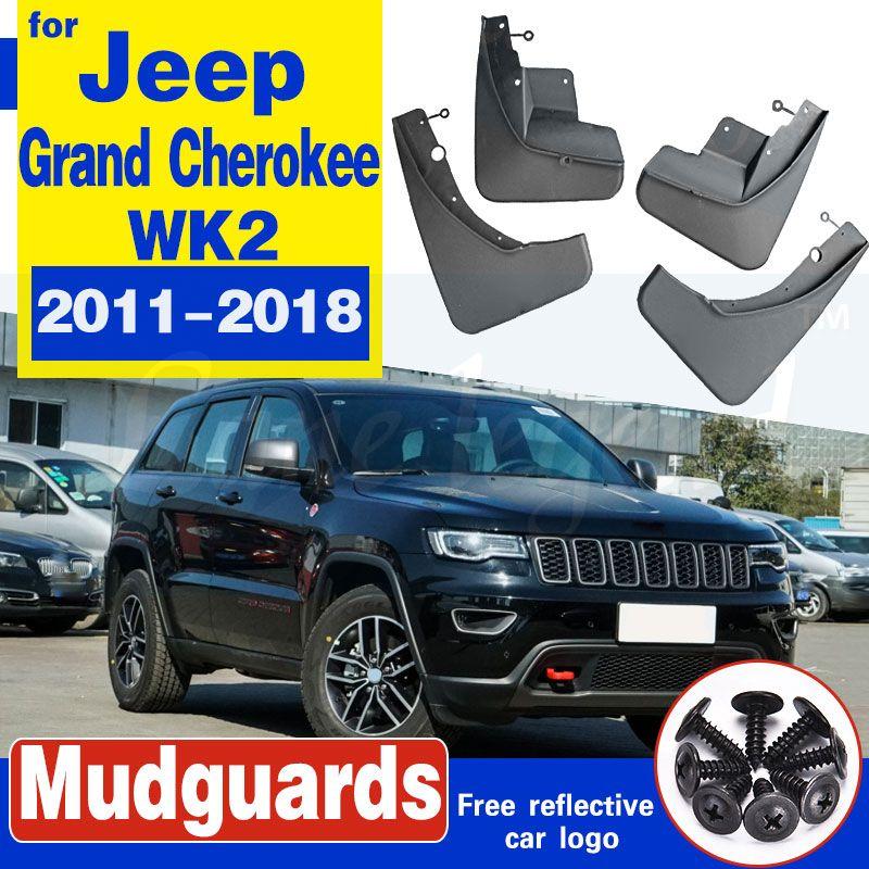Pour Jeep Grand Cherokee WK2 2011-2018 Set boue arrière de voiture avant Rabats Bavettes garde-boue BOUE Garde-boue 2012 2013 2014 2015