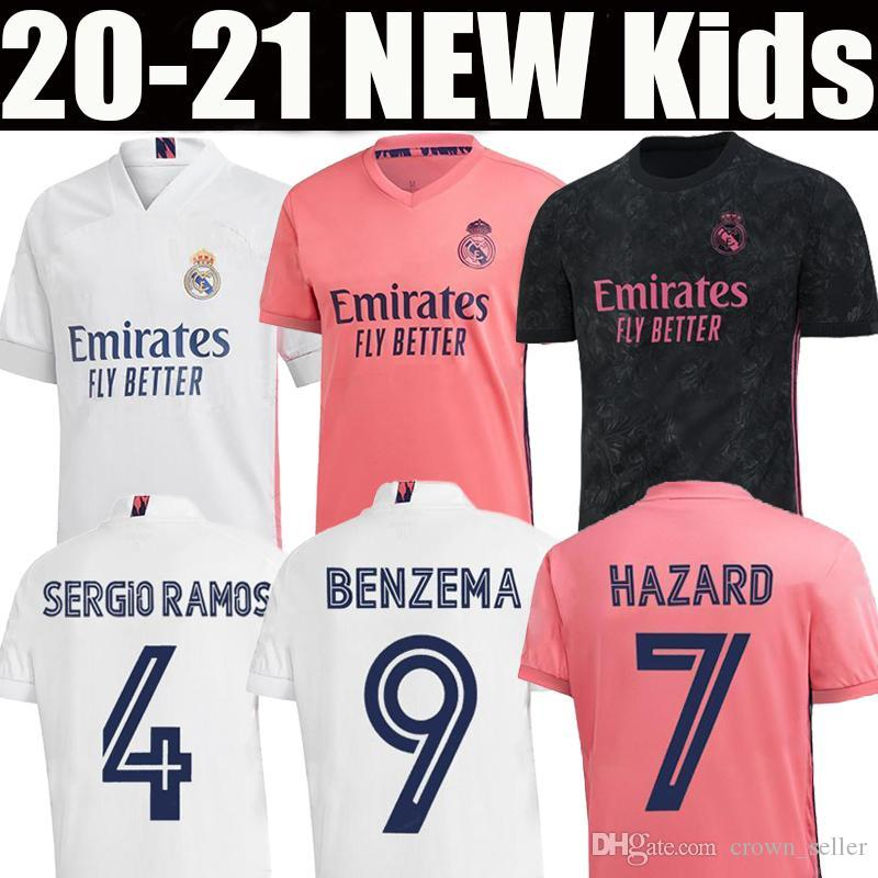 REAL MADRID jerseys 20 21 HAZARD SERGIO RAMOS soccer jersey BENZEMA VINICIUS camiseta football jersey shirt uniforms men kids kit 2020 2021