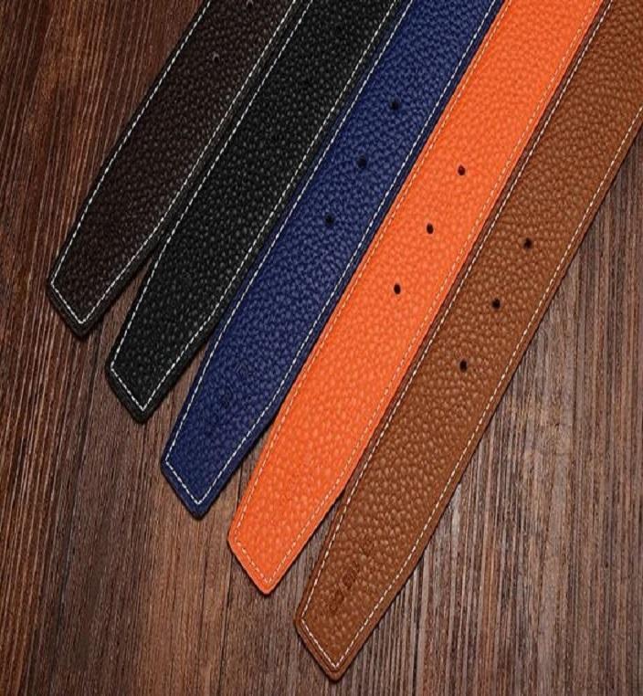 Cinture commerciali Mens cinghia di modo degli uomini del cuoio genuino cinture nere delle donne grande fibbia in oro Smooth Womens Classic Cintura casuale con Box72-15
