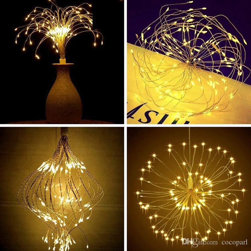 Fairy Lights Copper Wire LED String lights For Christmas Garland Wedding Party Indoor Room Decoration Battery