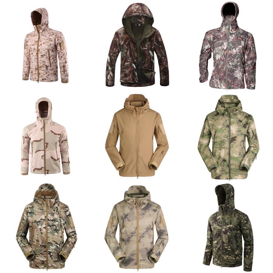 Männlich Windjacke Herren Bekleidung Jacken-Kleidung für Männer Street Herbst Jacken Tarnung mit Kapuze Mäntel beiläufige Reißverschluss # 640