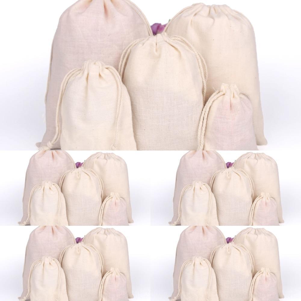 coton blanc coton bijoux bunched protection de l'environnement en bottes avec cordon de serrage cadeau sac d'emballage sac d'emballage Bijoux LoYgE