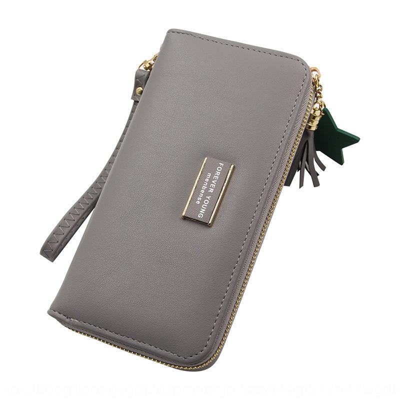 portatile multi-card giapponese e coreano semplice di cerniera grande capienza Nuovo sacchetto borsa della moneta v2nk6 raccoglitore lungo delle donne cerniera portafoglio