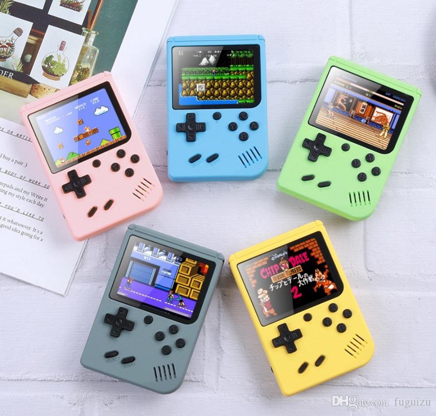 Macarons Mini Handheld Game Console 400In1 Retro portátil Video Game Console 8 Bit 3,0 polegadas colorido LCD Design Berço