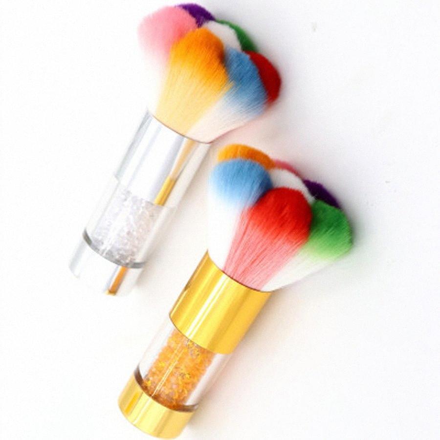 UV Jel Tırnak Toz Temizleyici Fırça Manikür Pedikür Aracı Aksesuar CX6W # için Renkli Yumuşak Tırnak Temizleme Fırçası Nail Art