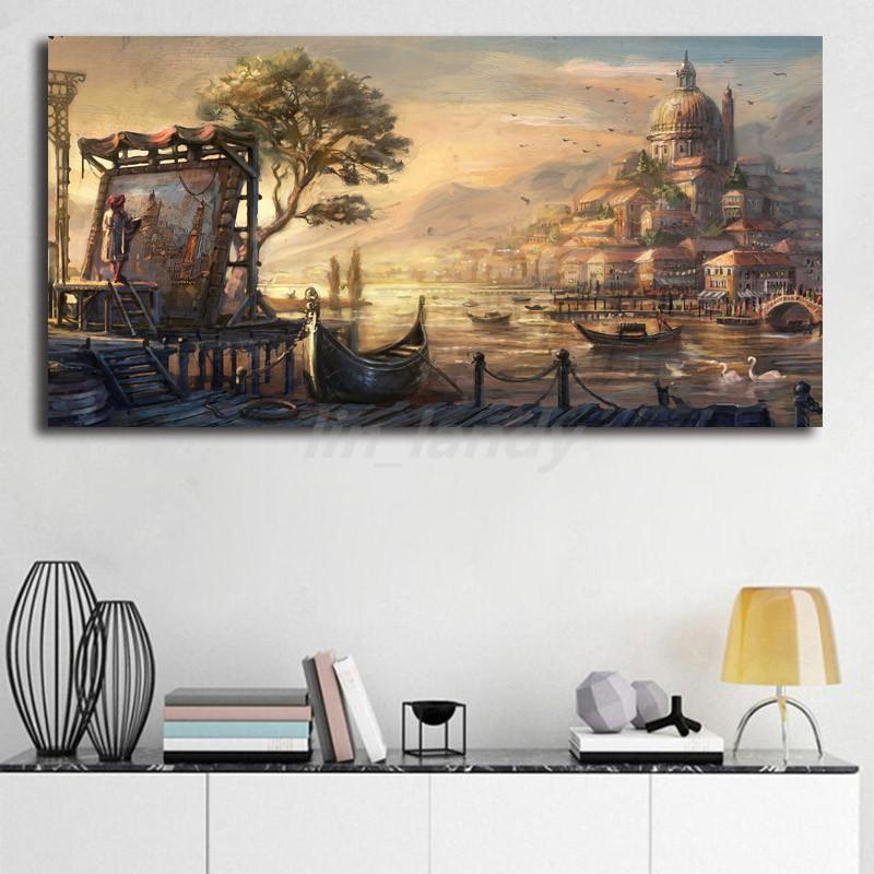 Anno 1404 Dawn Of Discovery Venice Canvas Prints Picture Modular Paintings For Living Room Poster On The Wall Home Decoration