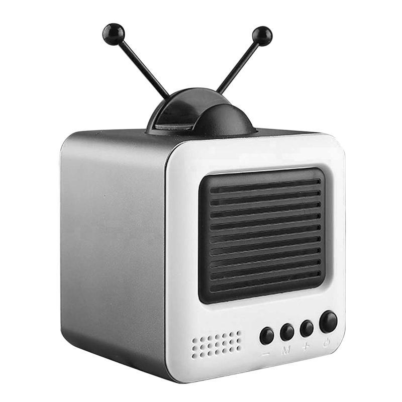 Mini-parleur sans fil Bluetooth Retro TV Speaker Modeling Wireless Mini Lecteur de musique téléphone portable Support
