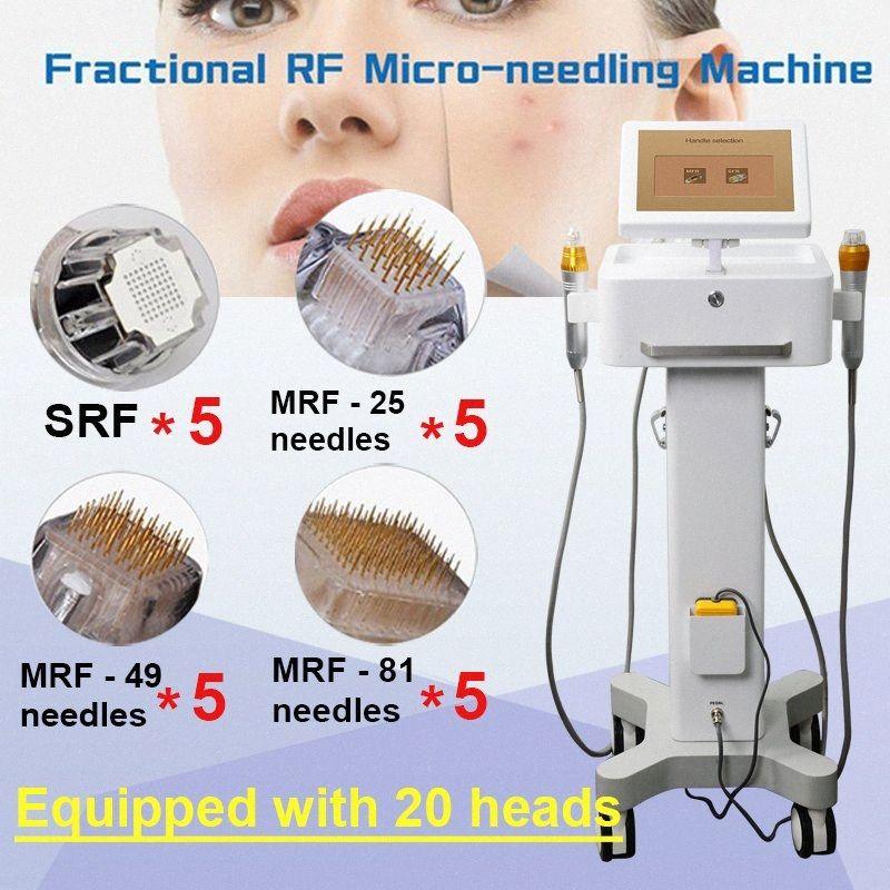 Frazionale Rf Viso dispositivo di sollevamento 20 aghi Rf Microneedle viso rimozione della cicatrice Radio Frequency serraggio viso Lift Eye Machin 0ClE #