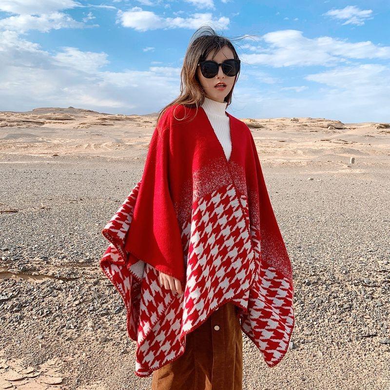 8gMhR Herbst und Winter tausend Vogel Mantel Dual-Use-Frauen warmer Lijiang Qinghai warmen Mantel Schal See Tibet Schal Tourismus
