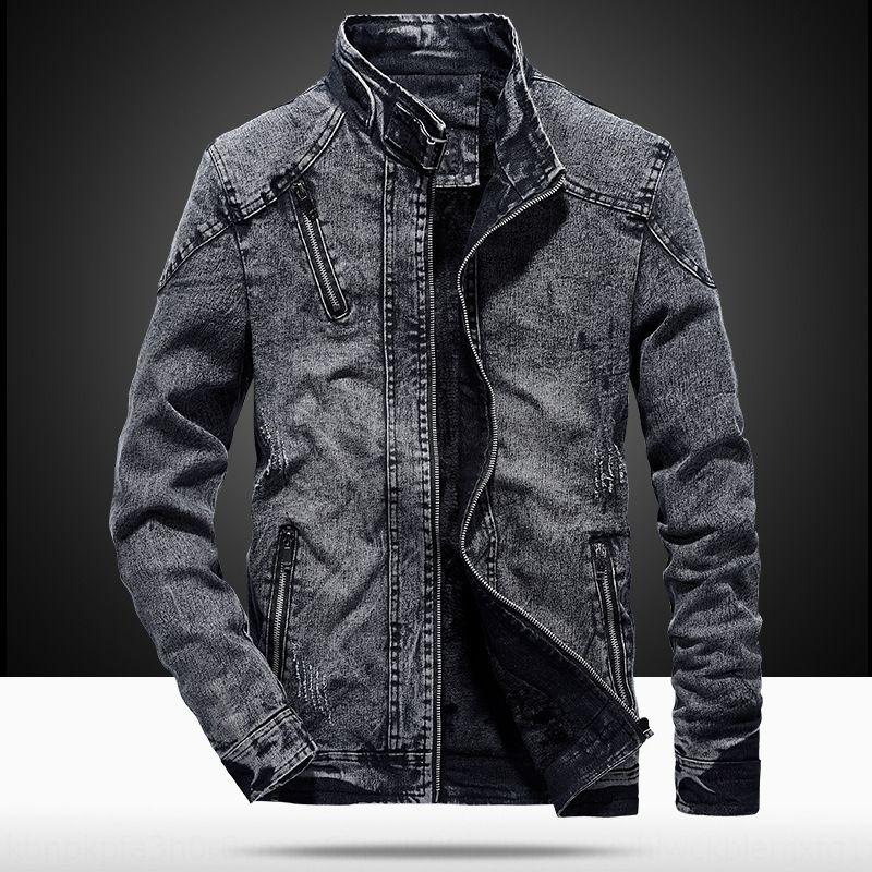 AQ8Lo New outono e inverno estilo coreano algodão moda masculina denim casaco jaqueta roupas jaqueta de homens magros para a juventude