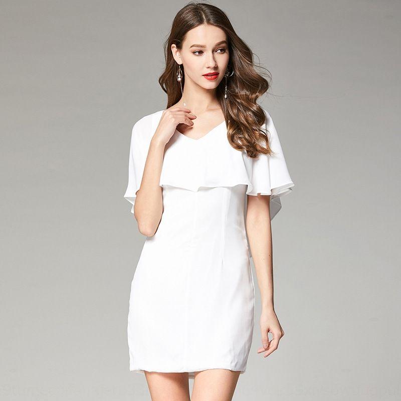 bze98 2020 été nouvelle usure robe jupe courte des femmes porter féminin Lilia mince jupe à volants courte sexy blanc
