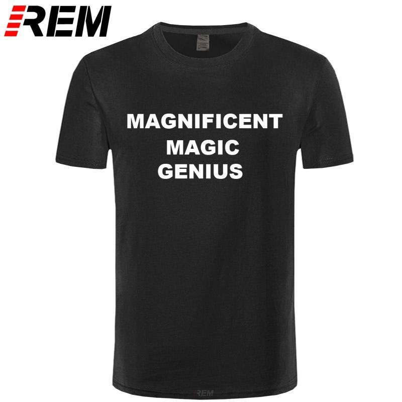 MAGNÍFICO MAGIC T-shirt GENIUS de manga curta de moda 100% algodão CottonTshirt