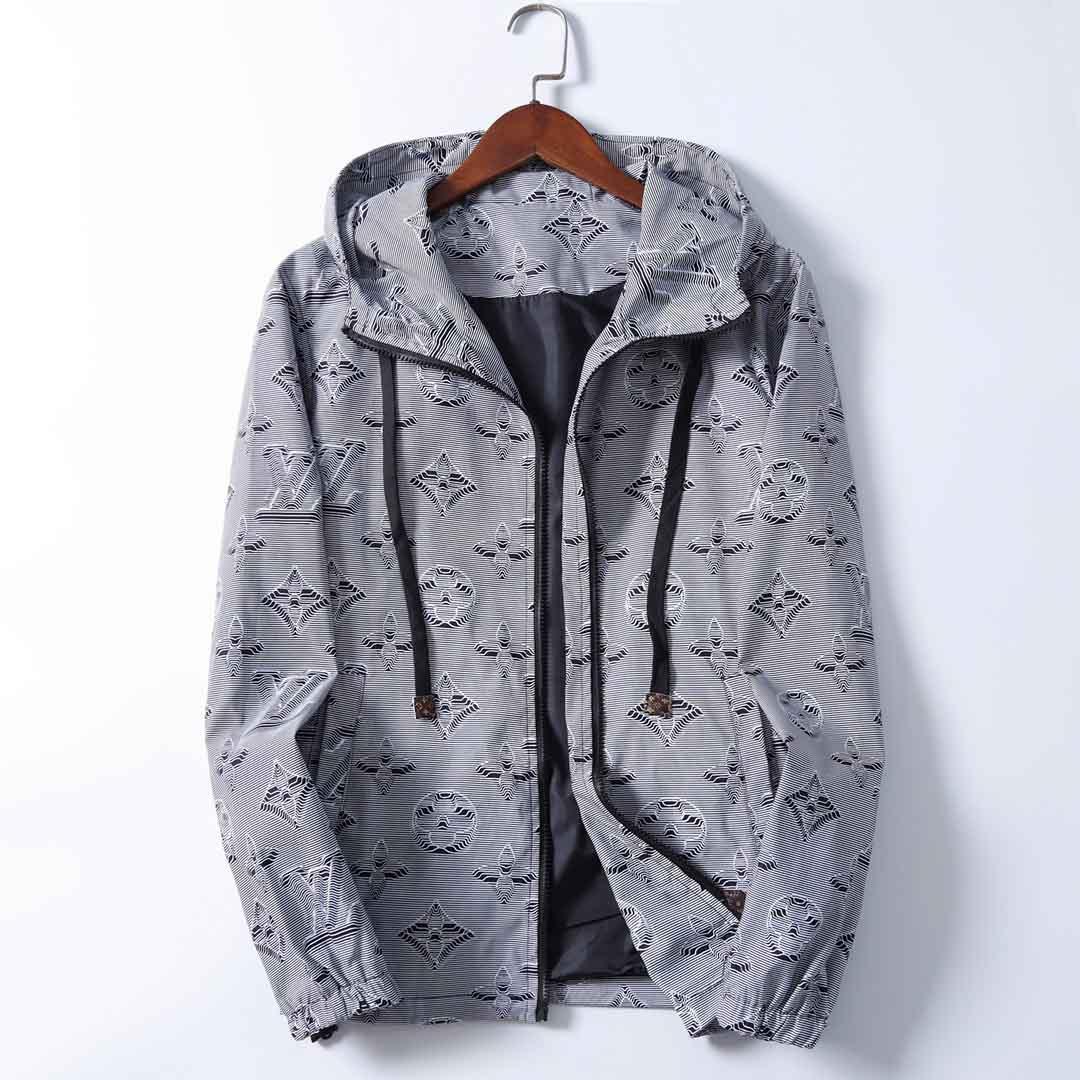 2020 nuovo stile uomini giacca a vento giacca con cappuccio abbigliamento cerniera uomini a maniche lunghe con la lettera del modello plus size abiti M-3XL