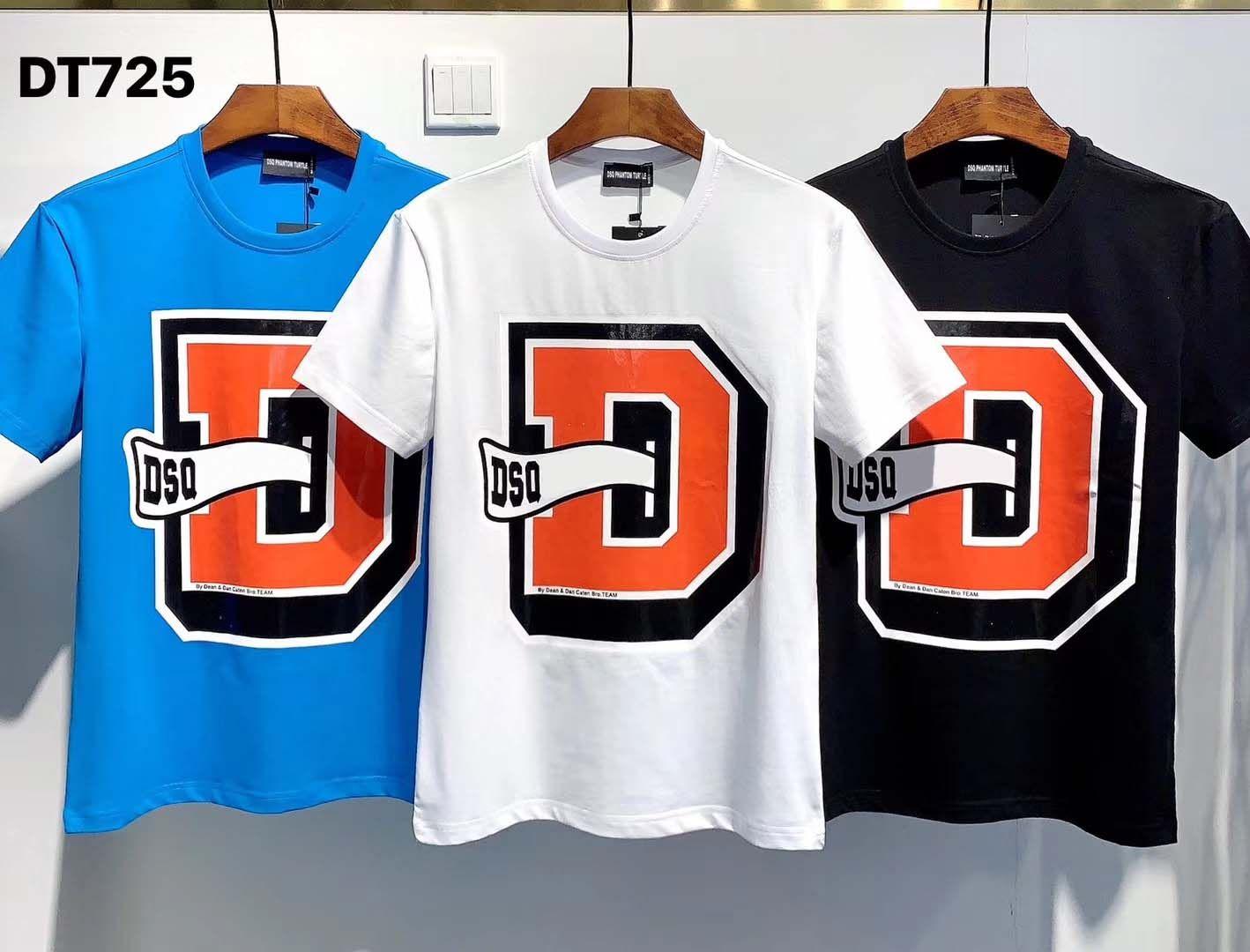 DSQ PHANTOM TORTUE 2020FW New Mens Designer T-shirt Italie mode T-shirts d'été DSQ Motif T-shirt Homme Top qualité 100% coton Top 7552