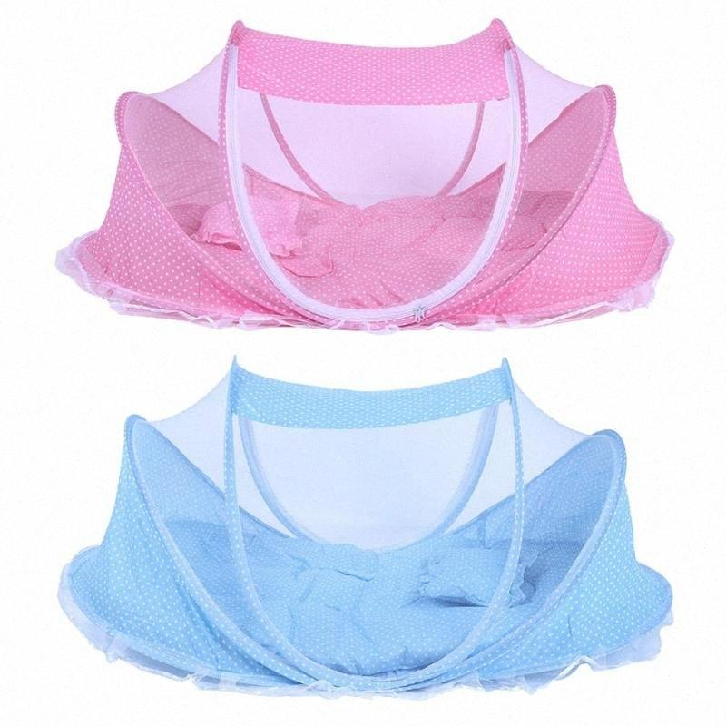 Bedding Crib Netting Folding Baby Music Mosquito Insect Nets Bed Mattress Pillow Portable Three Piece Suit For 0 2T Bay IQf6#