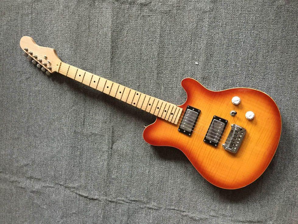 6 corde per chitarra elettrica, tastiera in acero Chrome Hardware, Tremolo Chitarra Ponte 22 tasti Cina ha fatto il trasporto libero della chitarra