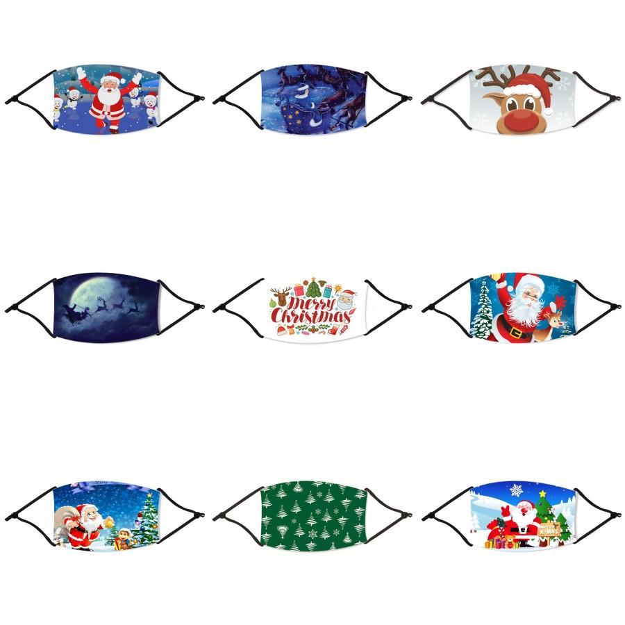Designer-Eis-Silk Weihnachten Maske Kid Weihnachten Masken-Jungen-Mädchen-Karikatur-Mund Kinder Anti-Staub-Breath Earloop waschbar wiederverwendbare Baumwolle # 411