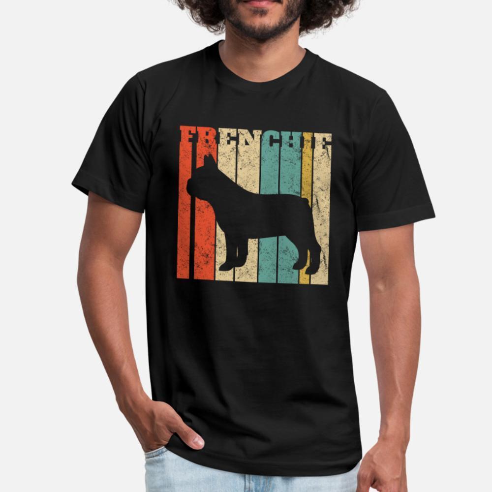 Rétro Frenchie bouledogue français T-shirt à manches courtes hommes Fit S-XXXL Costume Fit Humour Printemps Kawaii