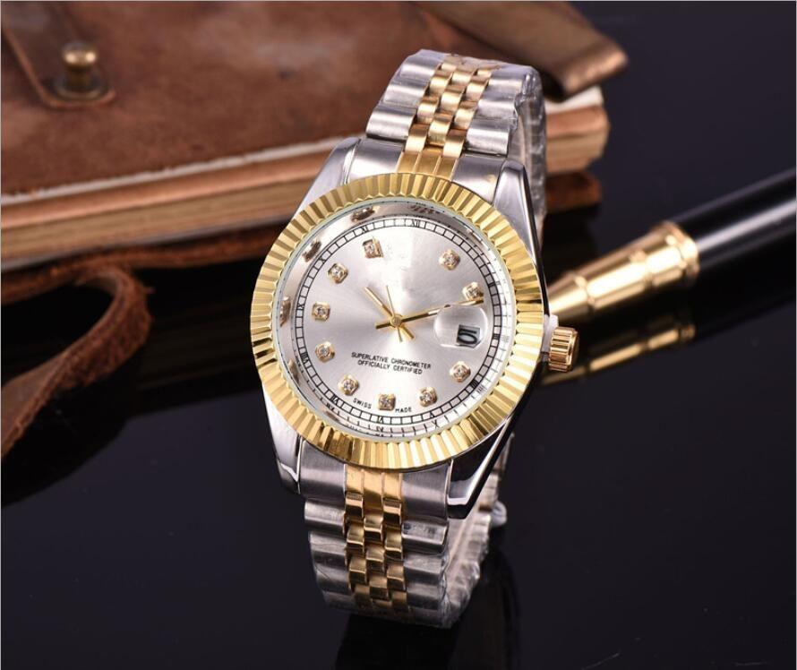 최고의 시계 커플 스타일의 고전적인 자동 운동 기계적 28mm / 36mm 패션 남자 망 여성 여성 Womens Gold Datejust 시계 손목 시계
