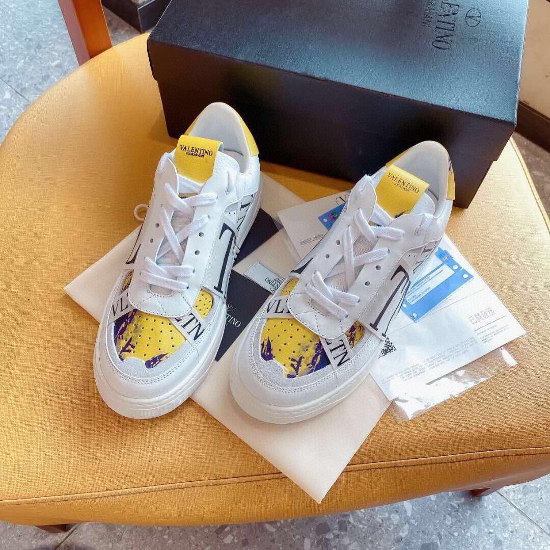 A14 Art und Weise klassische Art-Leder-Sneakers Frauen Designer-Schuhe Herren-Designer-Schuhe Hochwertiger Luxus beiläufigen Lace-Up Unisex Schuhe