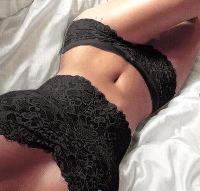 De gran tamaño del bikini de encaje pijama de la ropa interior de la ropa interior atractiva de las mujeres pijamas atractivos perspectiva bikini traje de he0C5