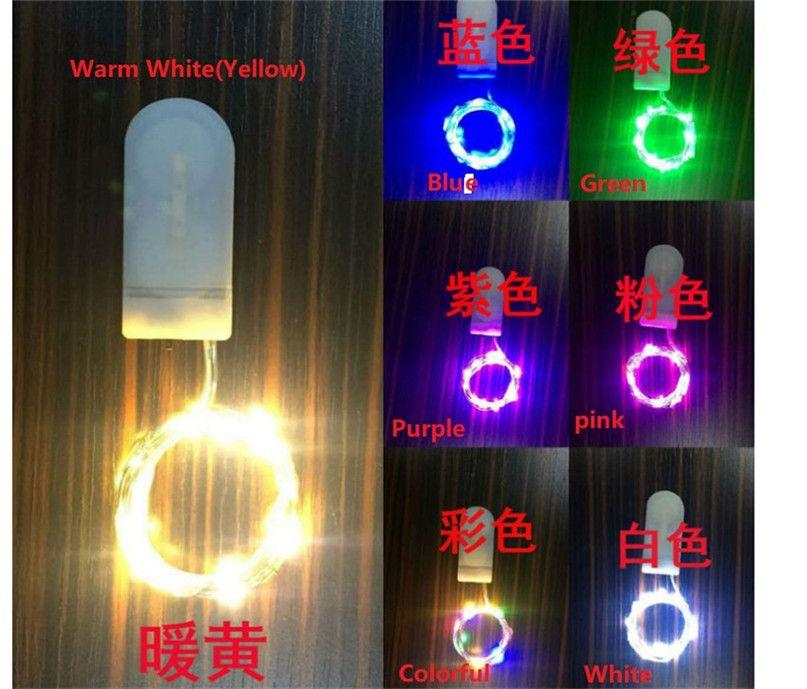 Multicolor LED chaîne lumière 1M à piles LED cuivre lampe fil chaîne de lumière pour Noël Halloween Party de Noël Décor F91003