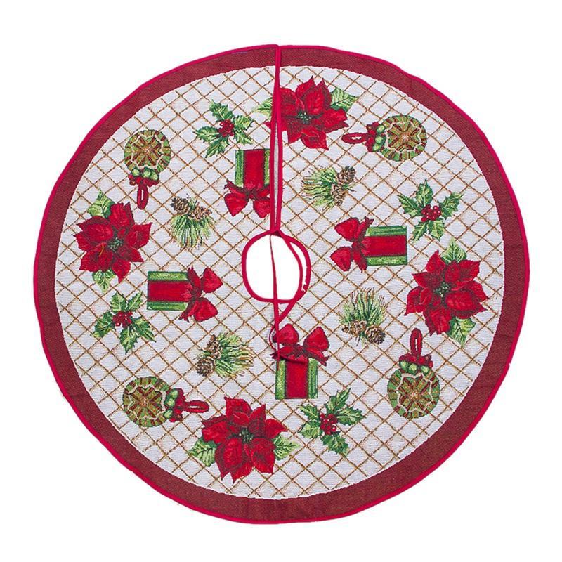 Christmas Tree Skirt Ornament 100cm Diameter Christmas Tree Bottom Decoration Decorations