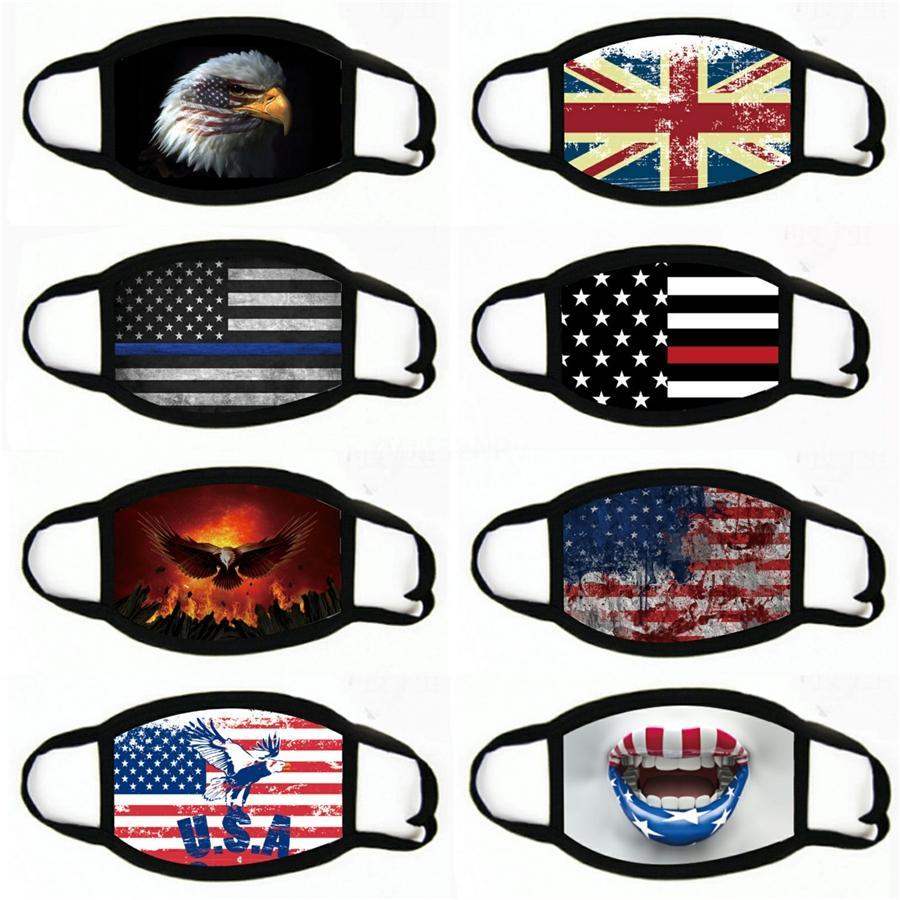Yetişkin Ve ABD Seçimleri İçin Yüz Maskeleri Toz Korumalı WashablePrint Amerikan Bayrağı # 818 Maske Maskesi Malzemeleri