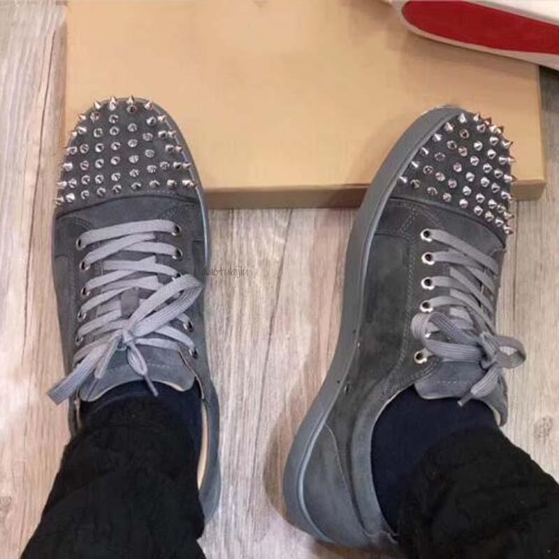 Casual zapatillas de deporte del patín de uñas para mujer para hombre top del punto bajo de piel de serpiente inferiores rojos de los zapatos ocasionales planas para Hombres Mujeres New Comfort patín zapato CB33