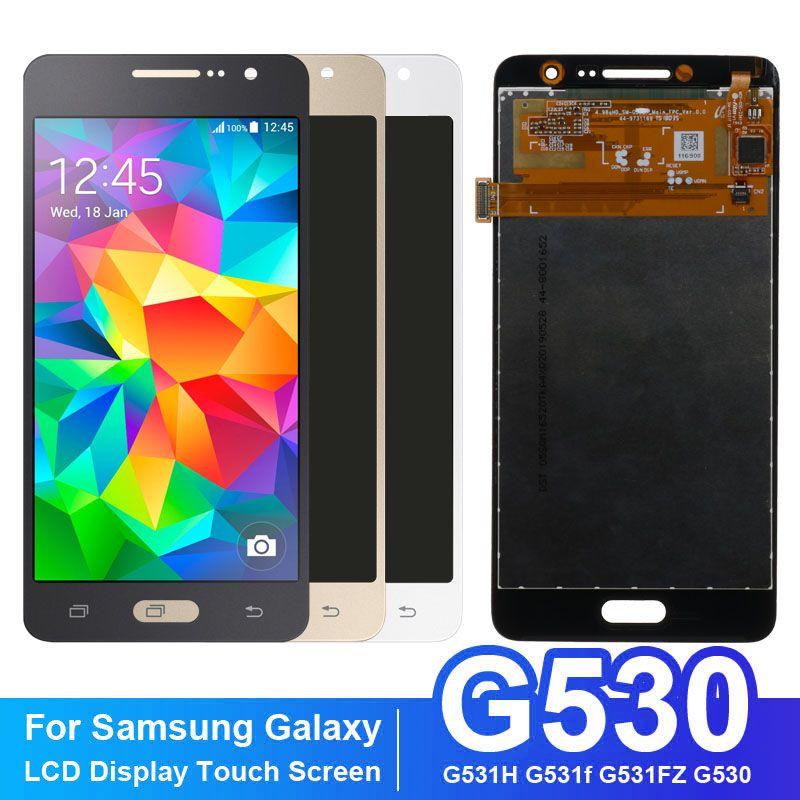 Ücretsiz kargo 5.0 inç Samsung Galaxy Grand Başbakan G530 G531 LCD Ekran ile Dokunmatik Ekran Digitizer Sensörü Beyaz Siyah Altın