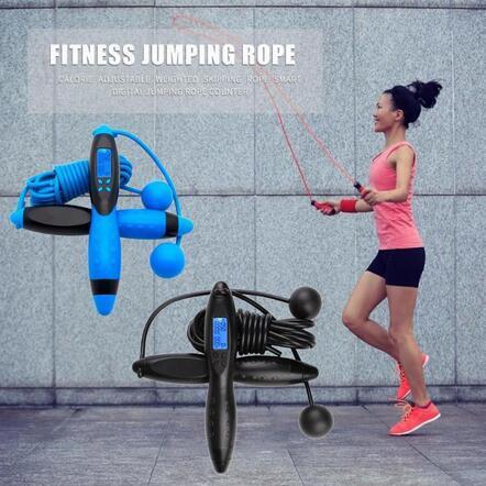 Intelligente Digital Velocità salto corda da salto Contatore timer Palestra Fitness Home Contatore Elettronico Con Calorie