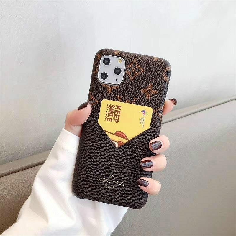 Luxus-Telefon-Kästen für Iphone 11 Pro Max 7 8 plus X xs Max XR Art und Weise PU-Leder mit Kartenbeutel freies Verschiffen 14