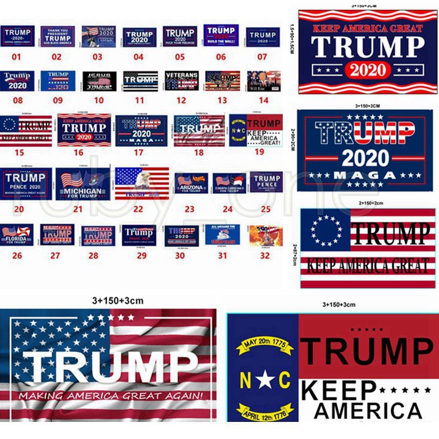 Nuovo stile Trump Bandiera 90 * 150cm America bandiera Trump 2020 Keep America Grande Flag USA Elezione presidenziale Bandiere DHL trasporto veloce RRA3635