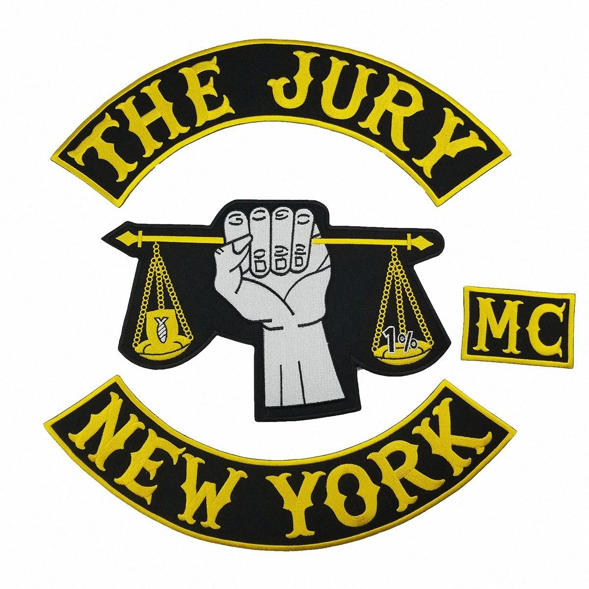 CORES QUENTES VENDA MAIS FRESCO DO JÚRI NEW YORK MOTORCYCLE CLUB VEST OUTLAW BIKER MC PATCH FRETE GRÁTIS OSvJ #