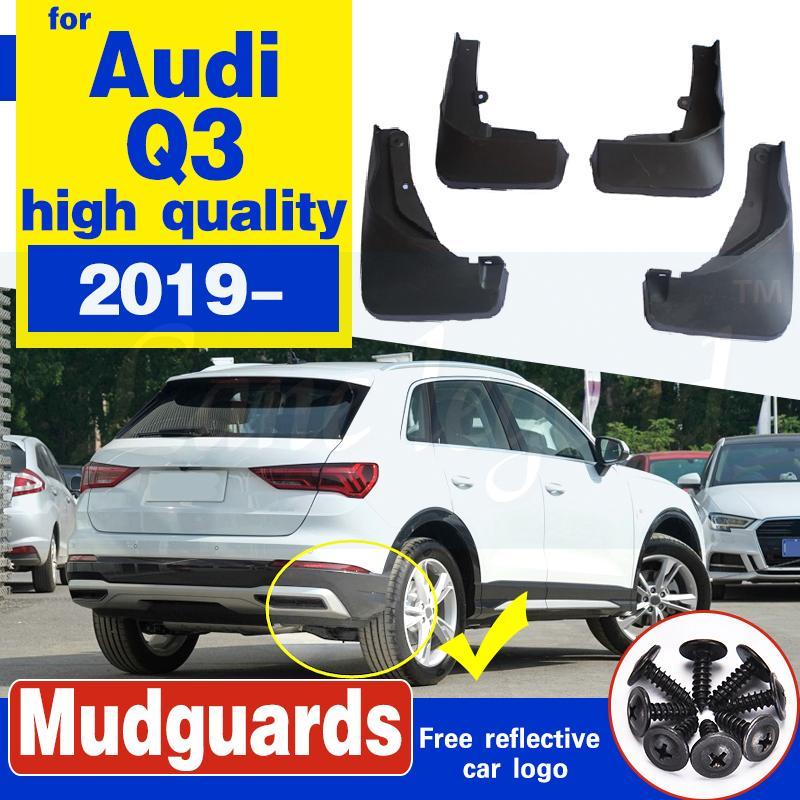 Pour Audi Q3 2019 2020 voiture boue Rabats bavettes garde-boue Garde-boue Garde-boue arrière roue avant voiture Accessoires en plastique souple