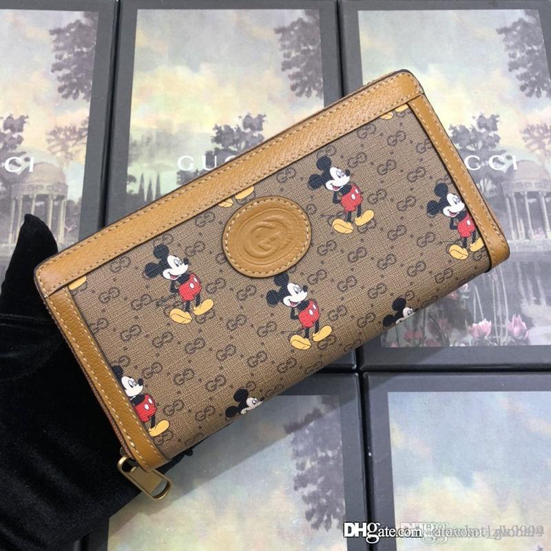 2020 الرجال والنساء جديد الرمز البريدي حول الرجال حقيبة محفظة مصمم الفاخرة مخلب 602532 التطريز أزياء المحفظة حجم 19-10-3.5cm مع مربع
