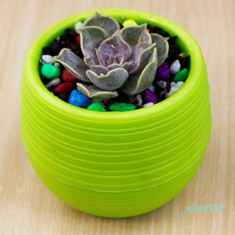 Bahçecilik Saksılar Küçük Mini Renkli Plastik Kreş Çiçek Dikim Saksılar Bahçe Deco Aracı Yüksek Kaliteli hızlı nakliye