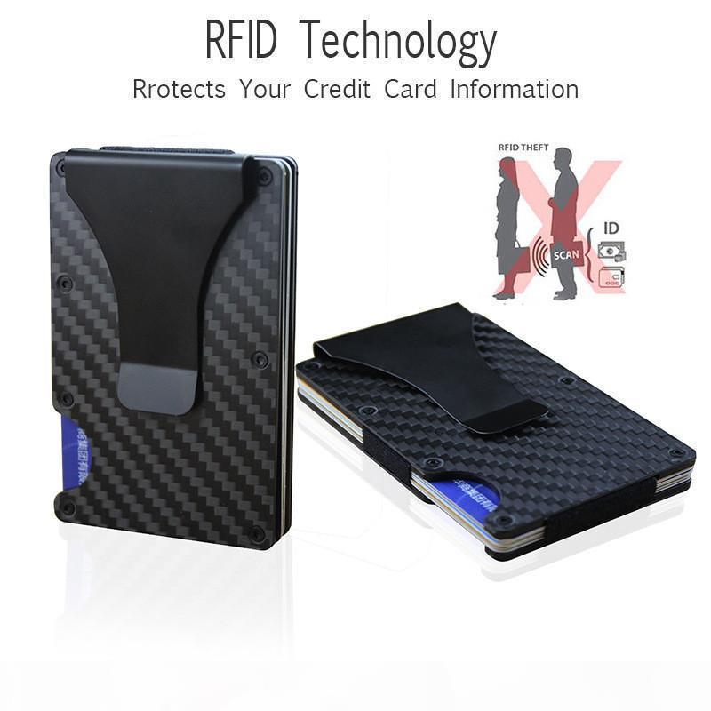 Best Deal men Money Clip Aluminum RFID Mini Purse Handbag Wholesale Smail Traver Wallet Free Shipping
