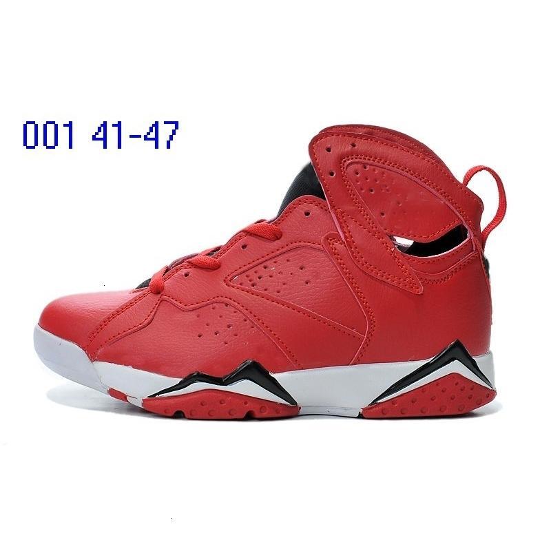 Saf Para Fransız Mavi Mens 7 klasik Basketbol 7S VII Orta Atletik Spor Sneakers Ayakkabı