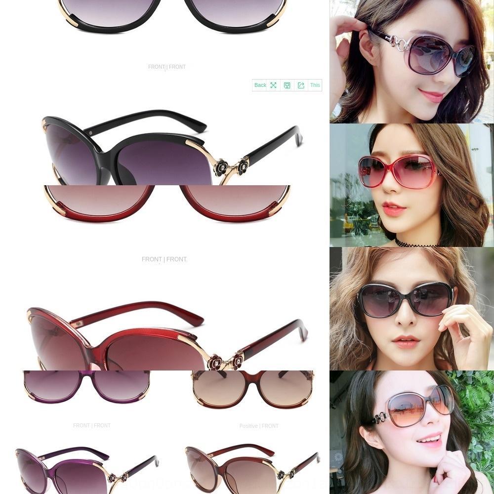 occhiali da sole di guida tondo Uomini stella di Sun di modo delle donne di wo personalità Occhiali aU62a