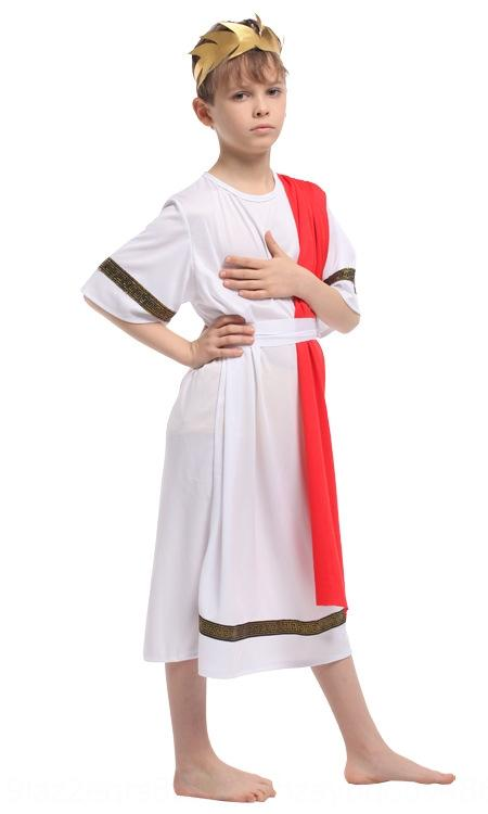 UsykG 8vDF9 Halloween roupas de flores li li fu tong faraó egípcio Príncipe 0134co vestido desempenho das crianças fu tong formais vestido infantil
