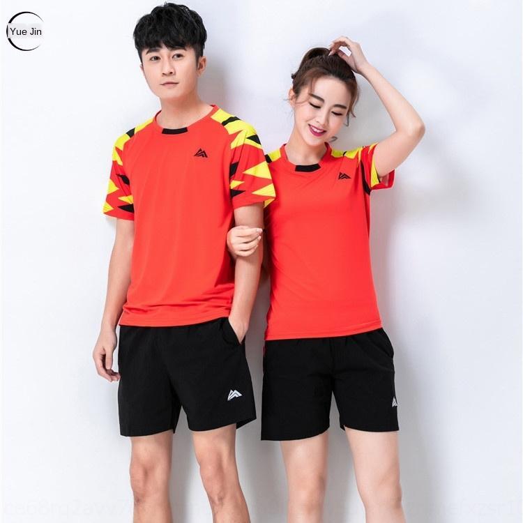gwhrA çabuk kuruyan badminton takım erkek ve Badminton Masa tenisi bayan çabuk kuruyan kısa kollu masa tenis kıyafetleri eğitim giyimi