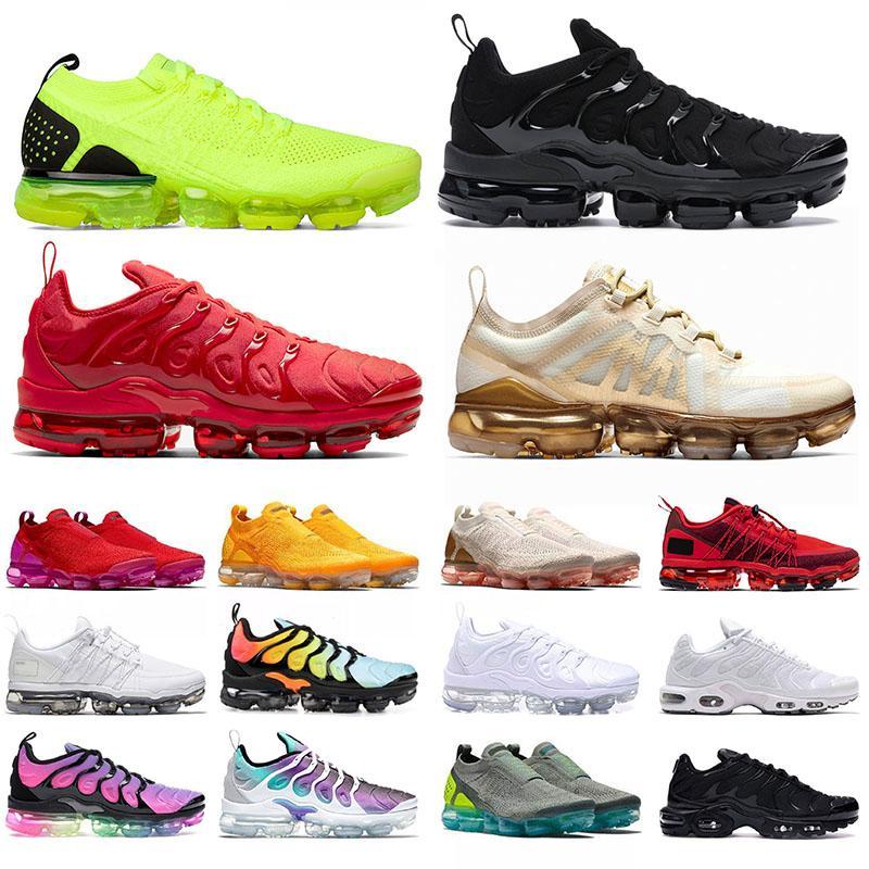 nike vapormax tn plus Vapor Max 2019 moc flyknit airmax off white mens femmes des chaussures de course en plein air de haute qualité tous les formateurs noirs taille nous 13