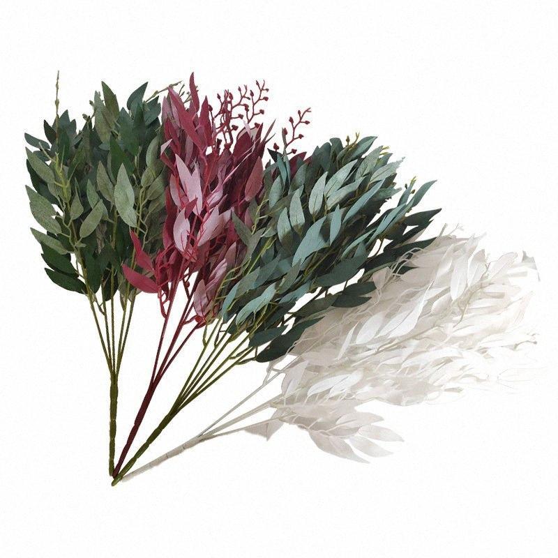 piante artificiali 5 forchette finto mosaico di alta qualità per la casa di nozze decorazione dell'hotel piante finte finto prato verde LKDv #