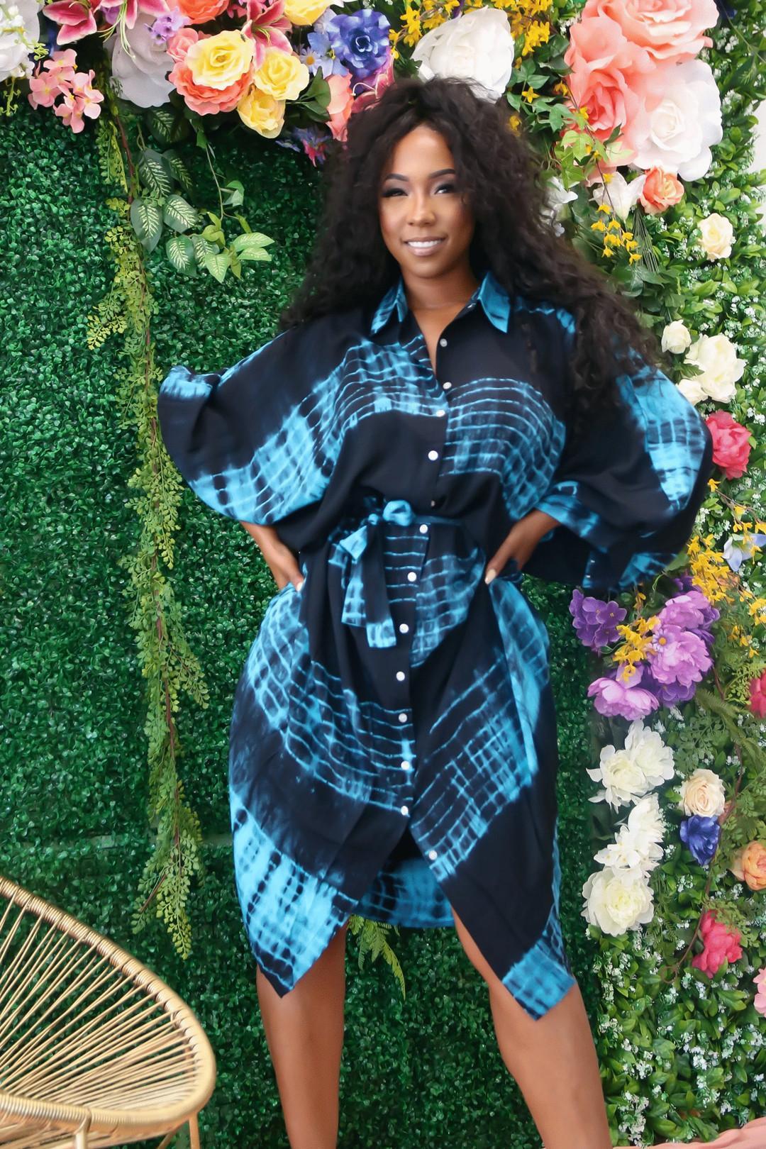 Flutter Womens Sleeve Designer Abiti estate allentato più la camicia casuale delle donne vestito dal risvolto del collo traspirante Abbigliamento Donna