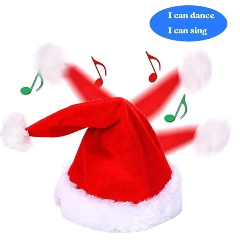 زينة عيد الميلاد القبعة الموسيقية 1 قطعة حزب الغناء والرقص مضحك أفخم لعبة عيد الميلاد القبعات 0924 # 30