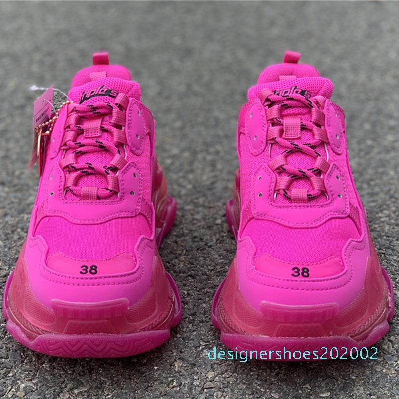 2020 Luxus Paris Triple S 17FW Dad Run Schuhe Rosa Kristall 2019 Mode-Marken-Entwerfer-Männer-Frauen-beiläufige Clunky Turnschuhe d2