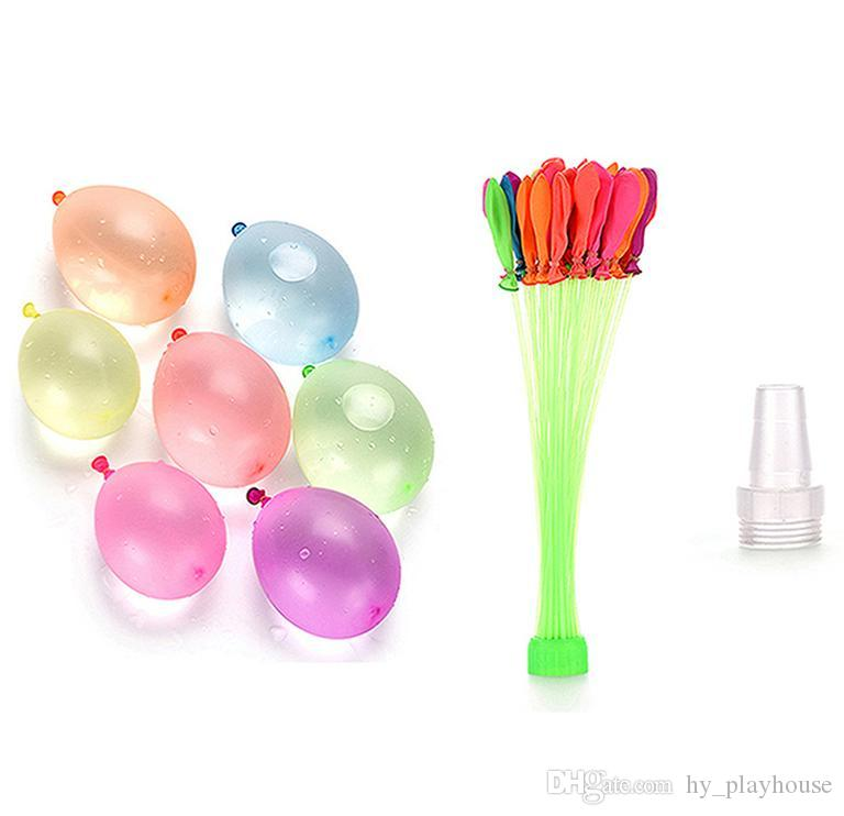 111Pcs الصيف الملونة المياه بالون الأطفال شاطئ حزب في الهواء الطلق لعبة المياه قنبلة كرات لعبة رماية طفل هدية